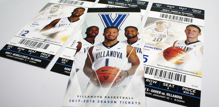 2017-2018 Villanova Men's Basketball Season Tickets