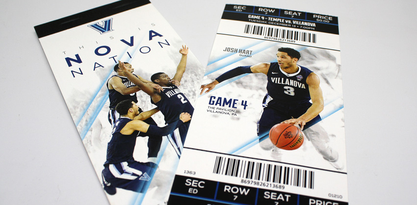 2016 Villanova Men's Basketball Season Tickets